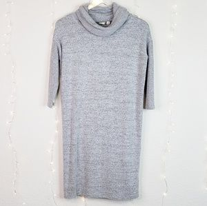 Gap | Grey Sweater Dress Cowlneck Dolman Sleeves